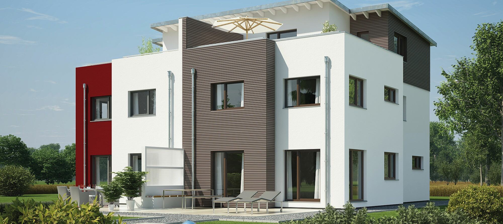 Fertighaus Doppelhaus 144 Hanse Haus