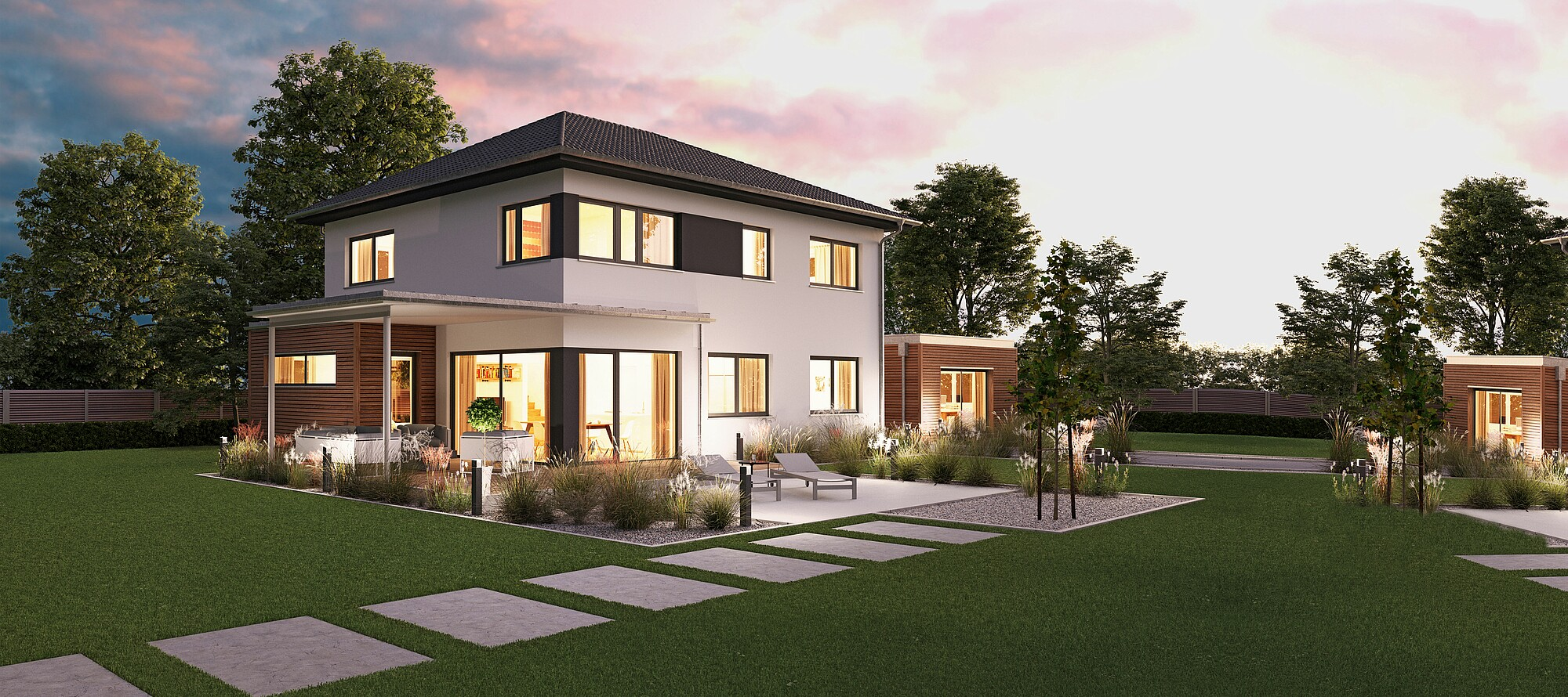 fertighaus villa 178 hanse haus. Black Bedroom Furniture Sets. Home Design Ideas
