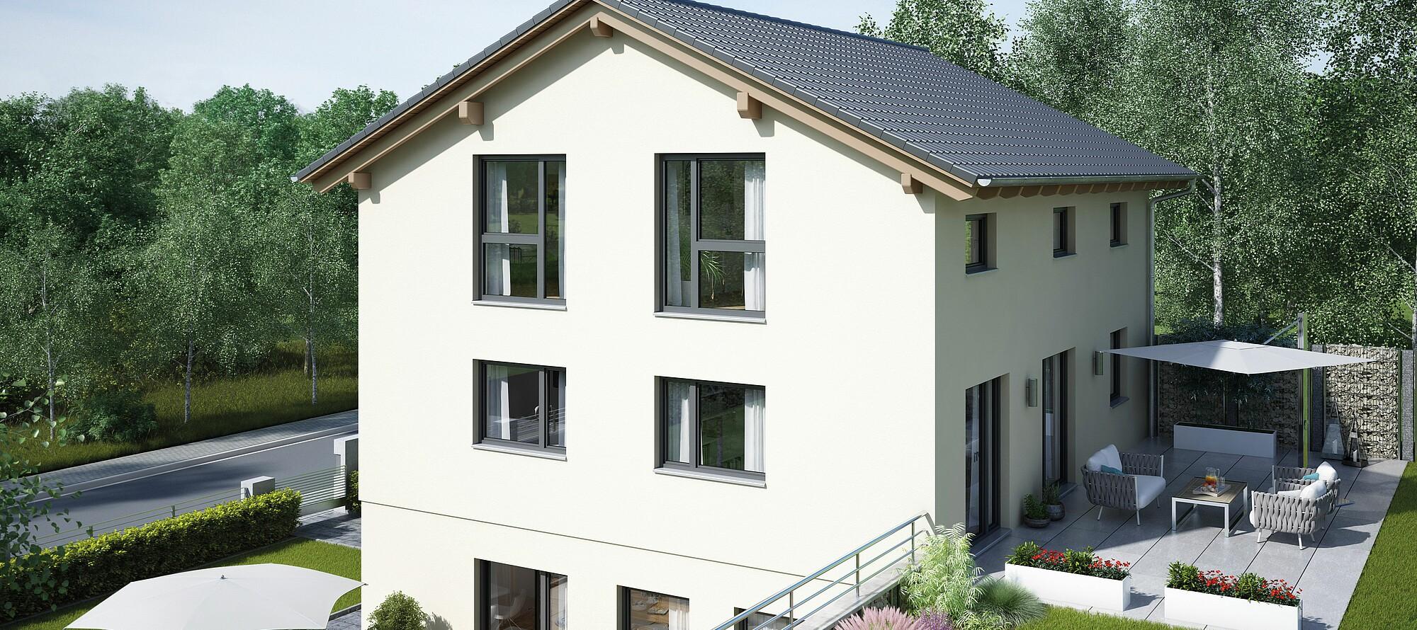 Fertighaus Variant 25 166 Mit Einliegerwohnung Variante 1 Hanse Haus