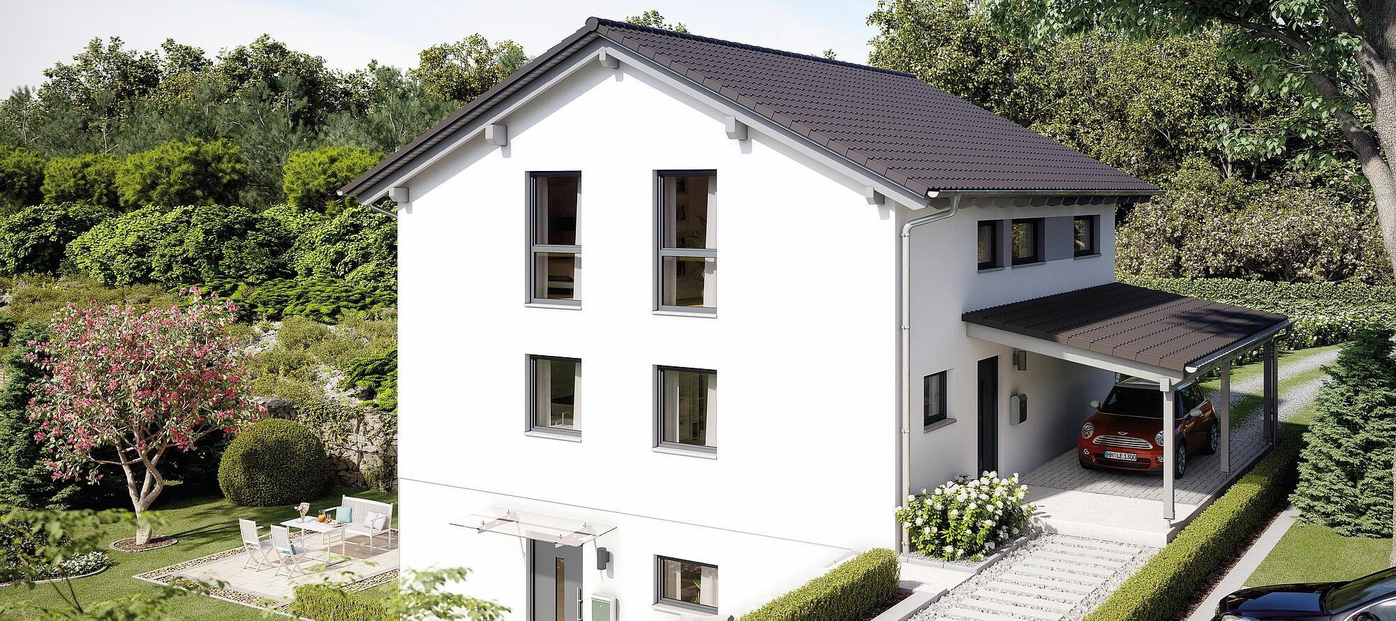 Fertighaus Variant 25 166 Mit Einliegerwohnung Variante 2 Hanse Haus